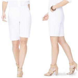 NYDJ Stretch Twill Bermuda Shorts - White